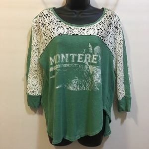 We the Free lace and cotton Monterey t-shirt XS